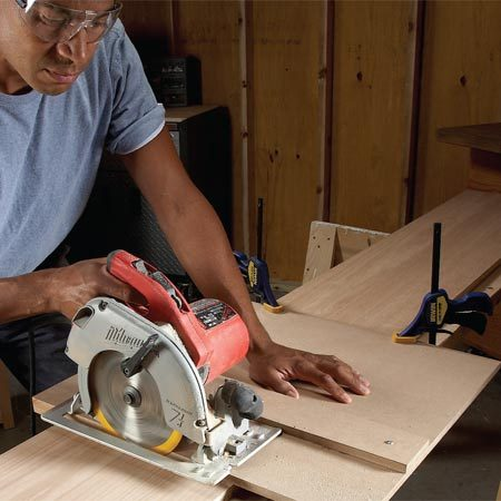 <b>Square-cut guide</b></br> Build this handy circular saw accessory in an hour and use it the next time you need a perfectly square cut on a shelf or other wide board.
