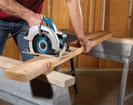 <b>Kickback problem</b></br> It's sort of like cutting off the tree limb you're standing on—a guaranteed disaster. The reason is that as the cut nears completion, the board bows downward, which pinches the blade in the cut and causes the saw and/or board to buck. This is dangerous and usually makes a mess of the board, too.