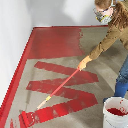 <b>Applying epoxy</b></br> Two-part epoxies are the toughest coatings you can get.