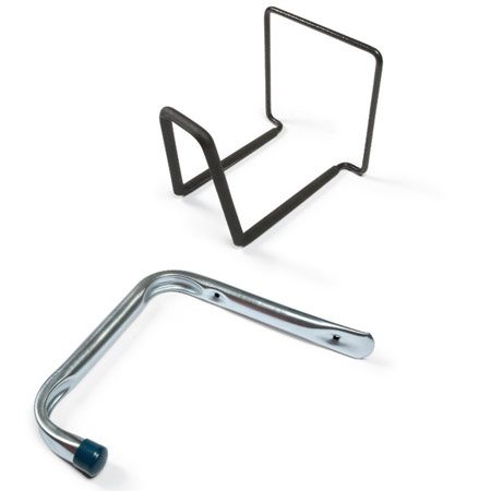 <b>Hangers</b></br> Large, all-purpose hangers for ladders, lawn chairs and hoses.