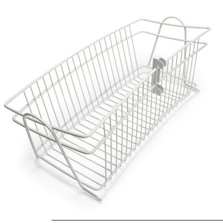<b>Basket</b><br/>Hang wire catch-all baskets on shelf standards.