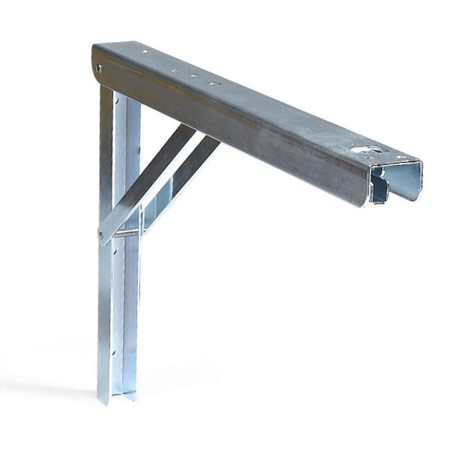 <b>Folding brackets</b><br/>Heavy-duty folding brackets are sturdy enough for a workbench (available from Knape and Vogt or woodworking stores).