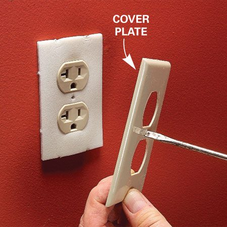 <b>No foam or caulk required</b></br> Screw on the cover plate and you're done.