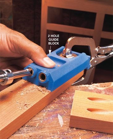"<b>Use a Kreg jig for simple, accurate joints</b></br> ""A Kreg jig will let you make a joint in about two minutes,"" said Jeff Gorton, associate editor. ""It's become one of my favorite tools because it lets me build furniture, cabinets and bookcases without having to cut fancy (and time-consuming) joinery."" A Kreg jig lets you drill pocket holes, then screw the pieces together with special screws. You'll leave visible holes, which you can hide inside the project or fill with special plugs. The two-hole version shown costs $45. A mini kit for drilling one hole at a time costs $22 (<a href='http://www.kregtool.com'>kregtool.com</a>)."
