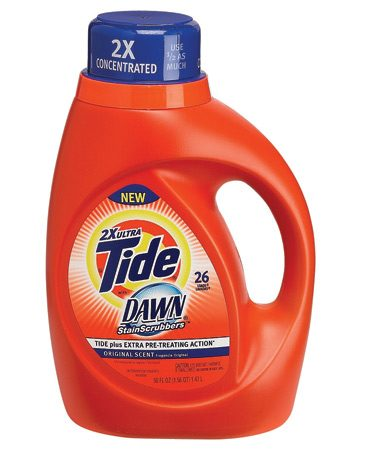 <b>Treat stains during the wash cycle</b></br> Don't worry about tough stains like makeup or chocolate ruining your clothes. Our pros are fans of Tide with Dawn Stain- Scrubbers ($6.50 for 50 ozs.), a new detergent that can handle stains in the wash cycle, saving you valuable time.