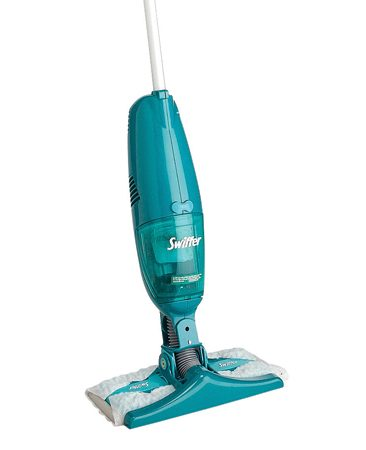 <b>Ditch the broom and dust pan</b></br> Sweeping the floor with a broom takes too long. The Swiffer Sweeper Vac ($29) does a better job than a broom and dustpan. Clean up the kids' crumbs and other messes without even bending over. You can clean a floor in four minutes or less!