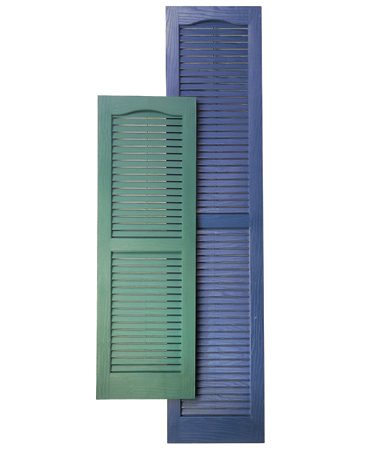 <b>Mount wood or vinyl shutters</b></br> Decorative shutters create a style and mood for your house.