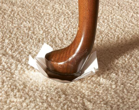 <b>4. Furniture protection</b><br/>After cleaning, quality pros set furniture on blocks or pads to prevent stains from transferring from furniture legs to the damp carpet.
