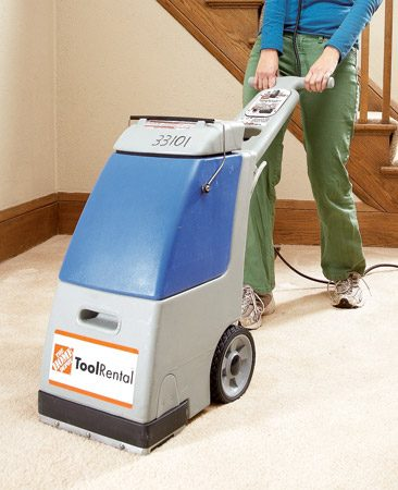 <b>Use DIY machines carefully</b><br/>Hurrying through a cleaning will leave soap residue, a soaked carpet and a pad that can mold or mildew. Larger rental machines require you to pull them across the floor rather than push.