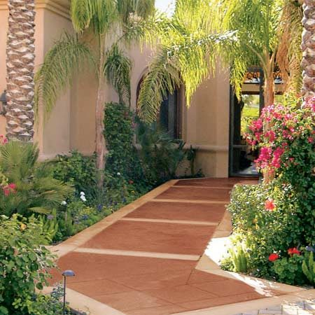 <b>Unlimited design possibilities</b></br> Use multiple colors of stain to create a distinct border or design on patios or sidewalks.