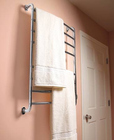 <b>Towel—and bathroom—warmers </b></br> Towel warmers take the edge off a chilly bathroom and give you a toasty towel to dry off after a bath.