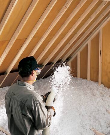 <b>Loose-fill insulation</b></br> Add loose-fill insulation if your attic is underinsulated.