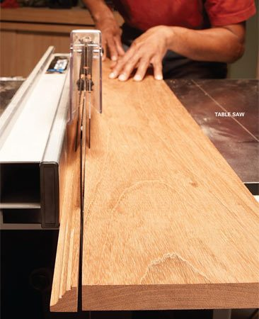 <b>Custom trim setup</b><br/>One way to make narrow moldings with your router is to use a router table and featherboards. But if you don't have a setup like this, try this other method. Start by routing the desired profile on a wide board. Then make the molding by cutting the shaped edge from the wide board with a table saw. Repeat the process until the board is too narrow to work with.