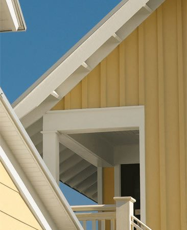 <b>Fire-resistant siding</b><br/>Cut down your risk of fire damage–and your premium–with fire-resistant siding.<br/>Photo courtesy of Certainteed Corp.