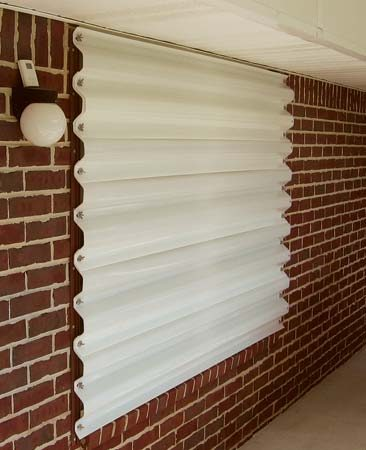 <b>Storm shutters</b><br/>Metal hurricane shutters are easy to install on existing homes. Electrically controlled models are also available. <br/>Photo courtesy of Stormshutters.com