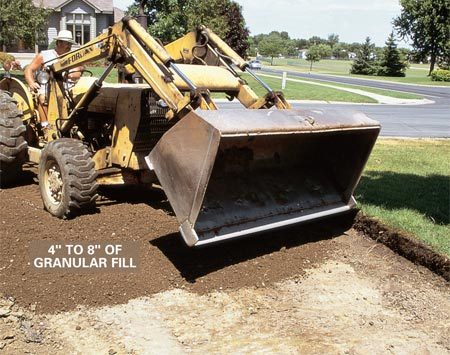 <b>Preparation</b></br> A good driveway starts with a proper base. Cold areas of the country need a thicker gravel base than warm areas where freezing and thawing is not a problem.
