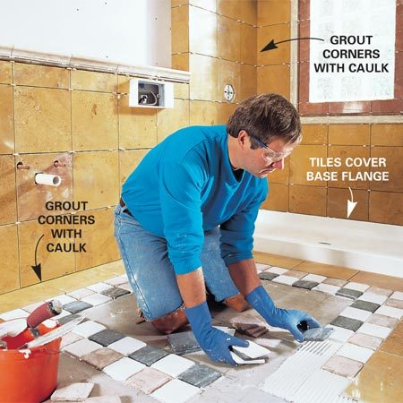<b>Tile details</b></br> Good tile work means getting the details right: creating a solid base, caulking the corners, covering tub or shower flanges, and using the right mortar, grout and sealer.