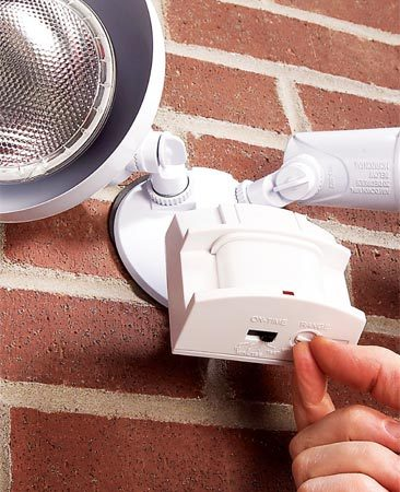 <b>Photo 1: Motion sensor</b></br> Motion sensors are the perfect solution for left-on lights. They turn off automatically so you don't waste electricity.