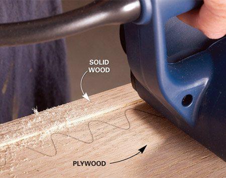 Be careful with plywood veneer