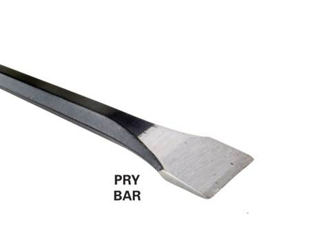 <b>Photo 2: Pry bar</b></br> Use a 5 to 6-ft. long chisel-tip pry bar to lift concrete edges.