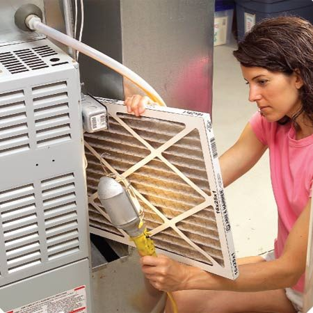 <b>Check your AC/furnace filter</b></br> Dirty air filters slow airflow and make the blower fan and cooling system work extra hard.