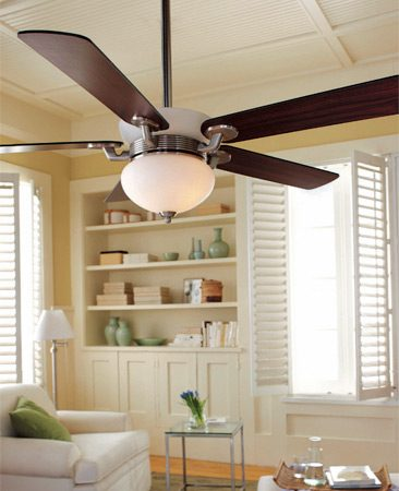 <b>Use ceiling fans</b></br> Moving air keeps you cooler. You can set the thermostat higher while still feeling comfortable.