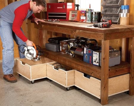 hard working storage drawers - Workbench Design Ideas
