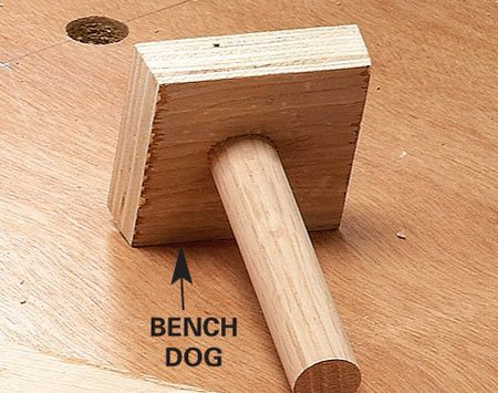 <b>Close-up of bench dog</b></br>