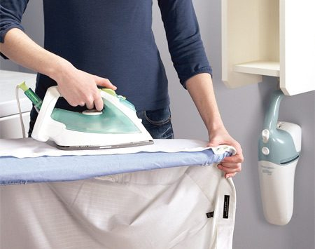 <b>Laundry room ironing center</b></br> Compact, convenient and simple to build.