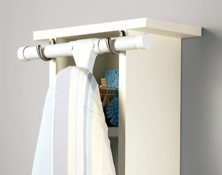 <b>Close-up of ironing board hanger </b></br>