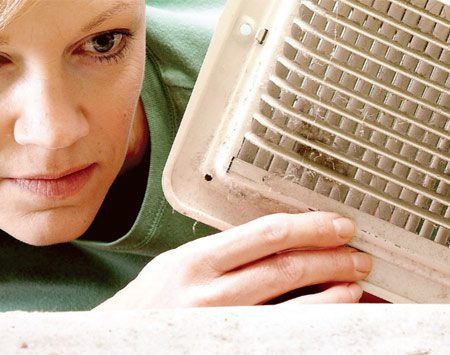 <b>Duct inspection</b></br> Clean ducts if you find mold or rodent or insect nests inside.