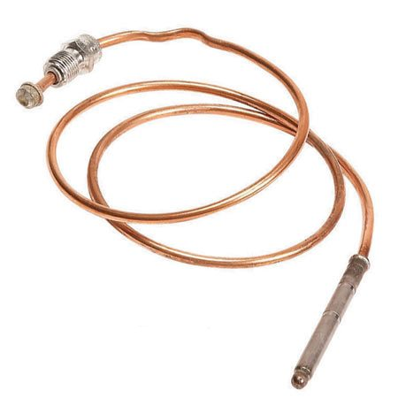 <b>Thermocouple</b></br> A thermocouple senses the heat of the pilot and allows gas to flow to the burner. A bad thermocouple will shut off gas to both the pilot and the burner.
