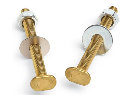 <b>Solid brass resists corrosion</b></br> Some metal toilet bolts have a yellowish zinc coating that makes them look like brass. So check the label and make sure you're getting brass bolts and nuts. They won't rust away and they're easier to cut off later. If you need to reanchor the toilet flange, buy stainless steel screws. They won't corrode like steel or break off like brass while you're driving them.