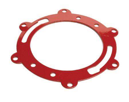 <b>Ear-type ring</b></br> Loose flanges are usually the result of wood rot. The flange screws simply won't hold in the soft, decayed subfloor. The best solution depends on the extent of the rot. If the rot is only under the flange, use an ear-type repair ring. The ears let you drive screws into firm wood farther away from the flange. Before you install this kind of ring, hold it up to the drain horn on the underside of the toilet. You may have to cut off a couple of ears to make it work with your toilet. If the rot extends well beyond the flange, you'll have to replace a section of the subfloor.