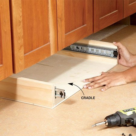 How to build under cabinet drawers increase kitchen Diy under counter storage