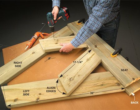 Build a Wooden Bench for Less | The Family Handyman