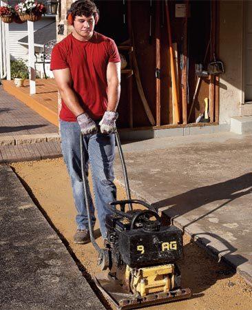 Pro repacking the gravel base