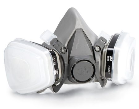 <b>Activated carbon respirator</b></br> Protect yourself from chemical vapors with a high-quality respirator. Pick one that fits well and feels good, and be sure it's easy to find replacement filters.