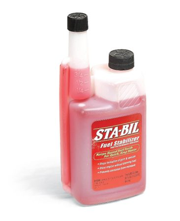 <b>Fuel stabilizer</b></br> <p>Fuel stabilizer works best with fresh fuel, so add it  to the tank right at the station. That'll give the stabilized fuel a chance to  run through the carburetor on the way home. Make sure the stabilizer itself is  fresh—it's only good for two years once the bottle's opened. </p>