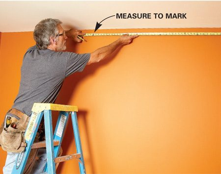 <b>Measure to mark</b></br> Measure from the opposite corner to your first mark and add them to get the total length.