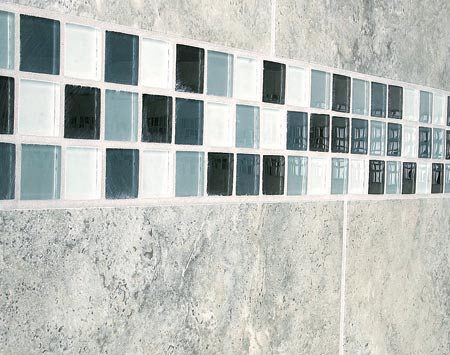<b>Mosaic tiles</b></br> Touches of mosaic tile or other expensive tile add style and elegance without a high price tag.