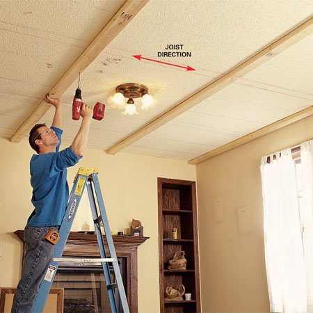 Ceiling Panels How To Install A Beam And Panel