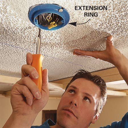 Install an extension ring