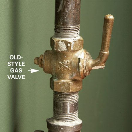 Old style gas shut off valves