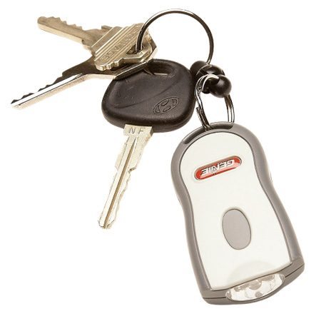 <b>Downsize the remote</b></br> <p>Thieves know right where  to look for your garage   door opener  remote—clipped to the visor in your car. To   avoid giving them easy  access to your garage, take the remote   with you when you leave  the car. The handiest way to do this   is to replace your big  remote with a small keychain version (sold at home centers or where you bought  your garage door opener).   Match the remote to the  brand and year of your opener. Then follow   the instructions for  programming it.</p> <p>If you've lost the remote  for the garage door opener, it's possible that it   has ended up in the wrong  hands. To be safe, follow the instructions that   came  with your opener to reset the code, disabling the lost remote. </p>