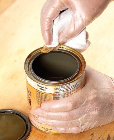 "<b>Keep finishes fresh</b></br> <p>If you force the lids of  your finish   cans closed when there's  finish filling   the rim, the can won't  seal and   the contents will dry out.</p> <p>""It only takes a few  seconds after   you're done to rub the can  rim with a   cotton cloth, which  guarantees a   clean and tight seal, and  makes it   easier  to open the can next time."" </p>"