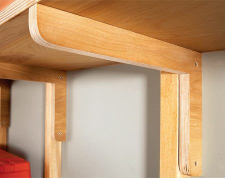 <b>Free plywood brackets</b></br> These 1-1/2-in.-wide brackets are surprisingly strong and will easily hold 100 lbs. or more.
