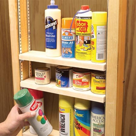 <b>Space shelves to suit your supplies</b></br>