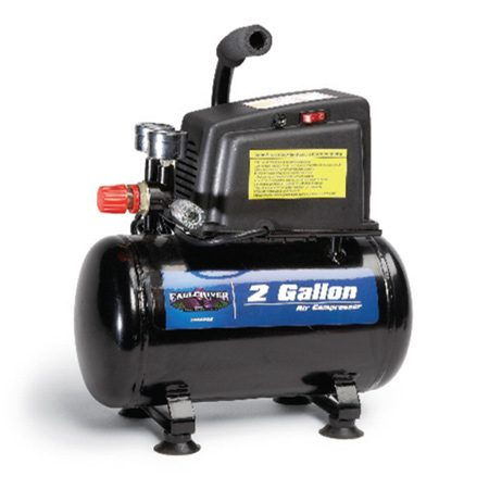 <b>Photo 1: Low CFM compressor</b></br> Run your brad nailers all day with a low-cost air compressor. It'll run a framing nailer, too, but you'll have to wait for the pressure to rebuild after every few nails. This .7 CFM compressor is oilless and costs less than $100.