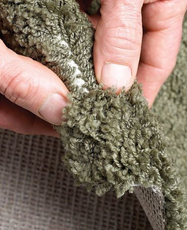 <b>Check quality </b></br> Bend the carpet sample backward. If you can see the backing easily, it's a low-density (lower quality) carpet that will crush more easily.
